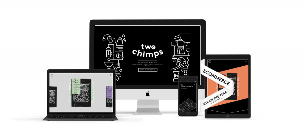 two chimps woocommerce website