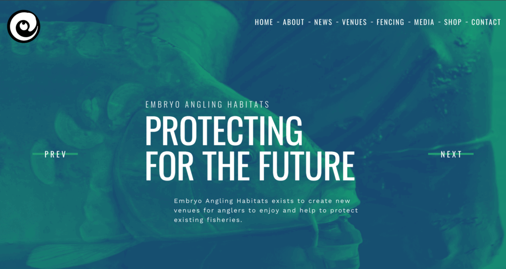 embryo angling homepage