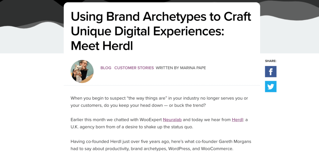 Herdl Interview on WooCommerce blog