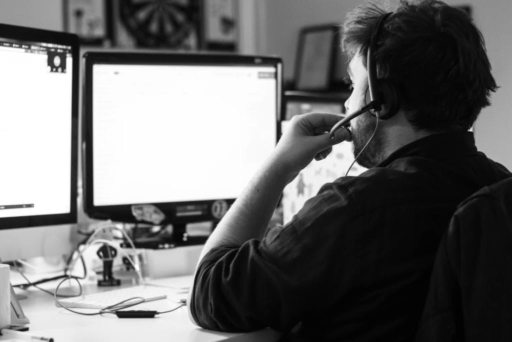 man at work at an seo agency