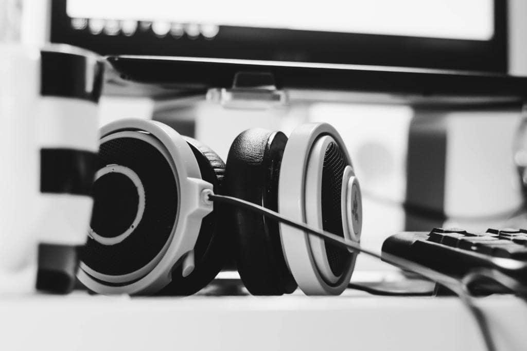 headphones in office