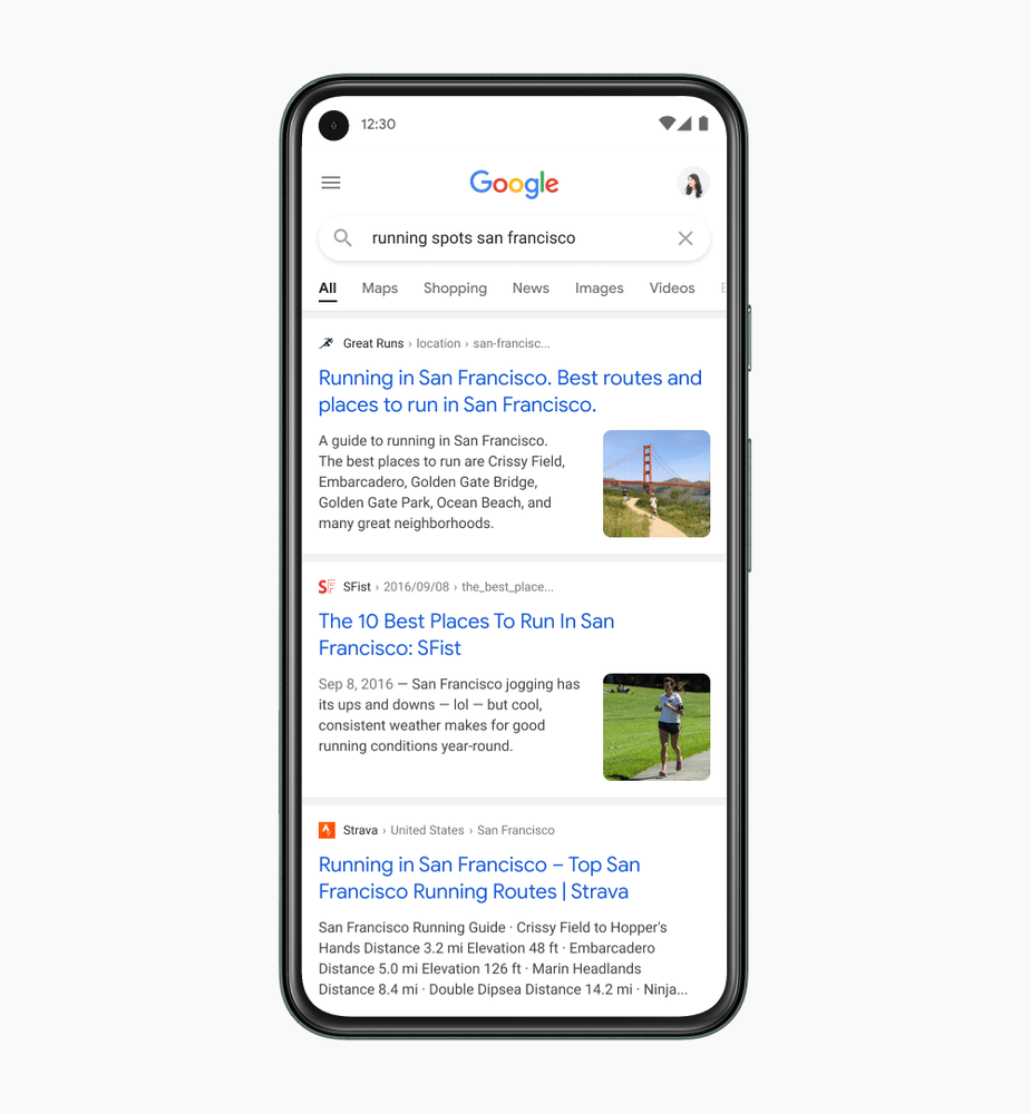 google mobile results update